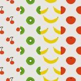 Seamless pattern, fruit set Stock Image
