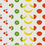 Seamless pattern, fruit set. Set of seamless pattern, fruit vector background design for fabric and decor Royalty Free Stock Photography