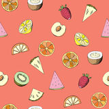 Seamless pattern with fruit Stock Image