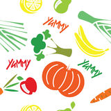 Seamless pattern with fruit and vegetables Royalty Free Stock Photography