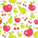 Seamless pattern with fruits. Illustration Royalty Free Stock Photo