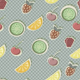 Seamless pattern with fruits Stock Photos