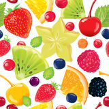 Seamless pattern fruits Royalty Free Stock Photography