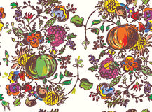 Seamless pattern with fruits for autumn Royalty Free Stock Image