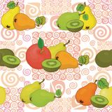 Seamless pattern and fruits Stock Photography