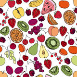 Seamless pattern with fruits and berries Stock Photography