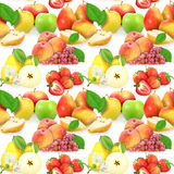 Seamless pattern with fruits and berries Royalty Free Stock Photos