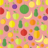 Seamless pattern with fruits and berries. Vector background. Seamless pattern with fresh fruits and berries. Vector background royalty free illustration