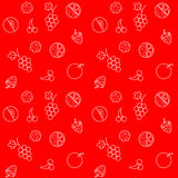 Seamless pattern. With fruits and berries.  Vector illustration Royalty Free Stock Photos
