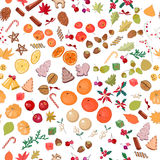 Seamless pattern with fruits and candies. Stock Photo