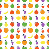 Seamless pattern with fruits. Royalty Free Stock Photo