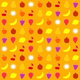 Seamless pattern with fruits Royalty Free Stock Photography