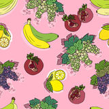 Seamless pattern with fruits. Royalty Free Stock Photos