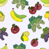 Seamless pattern with fruits. Stock Photos