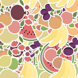 Seamless pattern with fruits. Set of objects for the store Royalty Free Stock Images