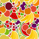 Seamless pattern with fruits. Set of objects for the store Royalty Free Stock Image
