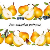 Seamless pattern from fruits. Royalty Free Stock Image