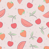 Seamless pattern with fruits Stock Photo