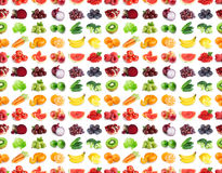 Seamless pattern of fruits and vegetables Royalty Free Stock Photos