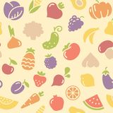 Seamless pattern fruits and vegetables Stock Image