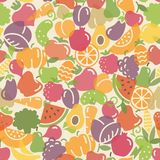Seamless pattern fruits and vegetables Stock Photography