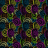 Seamless pattern with funky circles Stock Photos