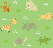 Seamless pattern with funny african animals Royalty Free Stock Photography
