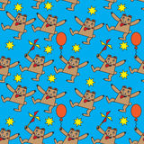 Seamless pattern with funny bear Royalty Free Stock Photo