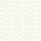 Seamless pattern with funny birds. Vector illustration Royalty Free Stock Images