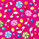 Seamless pattern funny candies Royalty Free Stock Photography