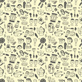 Seamless pattern funny cartoon Stock Images