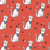 Seamless pattern with funny cats Royalty Free Stock Images