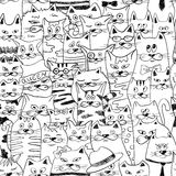 Seamless Pattern With Funny Cats. Royalty Free Stock Image