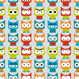 Seamless pattern with funny cats Stock Photography