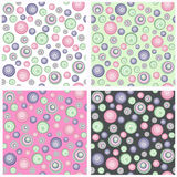 Seamless pattern, funny circles Royalty Free Stock Images