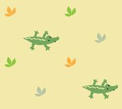 Seamless pattern with funny crocodiles Royalty Free Stock Photo