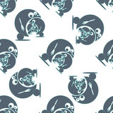 Seamless pattern with funny cute monsters. Vector. Illustration vector illustration
