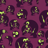 Seamless pattern with funny cute monsters. Vector. Illustration royalty free illustration