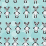 Seamless pattern with funny cute mouse animal on a Royalty Free Stock Photography