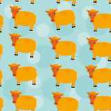 Seamless pattern with funny cute sheep animal on a Royalty Free Stock Photography