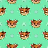 Seamless pattern with funny deer Stock Image