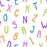Seamless pattern with funny doodle letters Royalty Free Stock Photo
