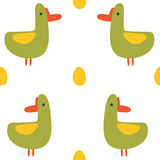 Seamless pattern with funny ducks. Vector,  Royalty Free Stock Photos
