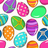 Seamless pattern of funny Easter eggs Royalty Free Stock Photography