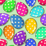 Seamless pattern of funny Easter eggs Royalty Free Stock Images