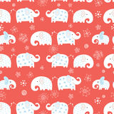 Seamless pattern of funny elephant stock illustration