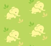 Seamless pattern with funny elephants. Royalty Free Stock Photos