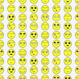 Seamless pattern with funny faces Royalty Free Stock Photos