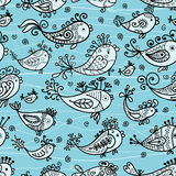 Seamless pattern with funny fishes for your design Stock Photography