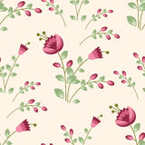 Seamless pattern with funny flowers Stock Photography